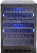 "24"" Dual Zone Wine Cooler - Black Stainless"