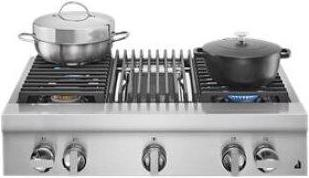 """NOIR™ 36"""" Gas Professional-Style Rangetop with Grill"""