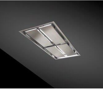 63-inch Brushed Stainless Steel Ceiling Mounted Range Hood with LED Light, internal 800 Max Blower CFM (CC34-63 Series)