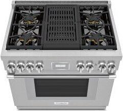 Gas Professional Range 36'' Pro Harmony™ Standard Depth Stainless Steel PRG364WLH