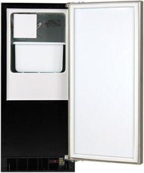 "Marvel 15"" Crescent Ice Machine - Solid Panel Overlay Ready Door - Right Hinge"