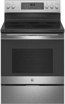 """GE™ 30"""" Free-Standing Electric Convection Range with No Preheat Air Fry"""