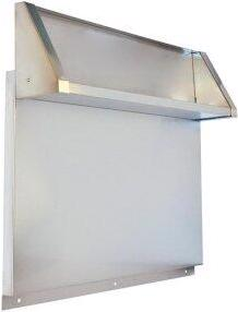 """Tall Backguard with Dual Position Shelf - for 36"""" Range or Cooktop"""