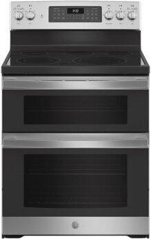"""GE™ 30"""" Free-Standing Electric Double Oven Convection Range"""