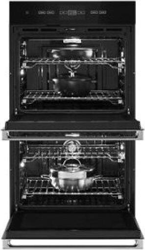"""NOIR™ 30"""" Double Wall Oven with V2™ Vertical Dual-Fan Convection System"""