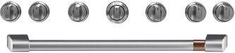 """Café™ 36"""" Brushed Stainless Handle & Knob Set for Pro Range and Rangetop"""