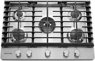 KitchenAid(R) 30'' 5-Burner Gas Cooktop - Stainless Steel