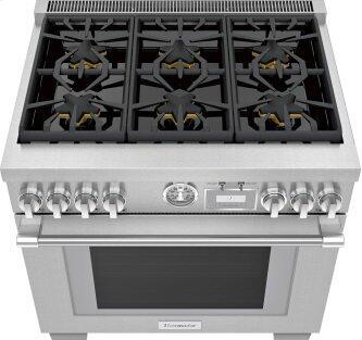 Gas Professional Range 36'' Pro Grand™ Commercial Depth Stainless Steel PRG366WG