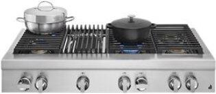 """NOIR™ 48"""" Gas Professional-Style Rangetop with Grill"""