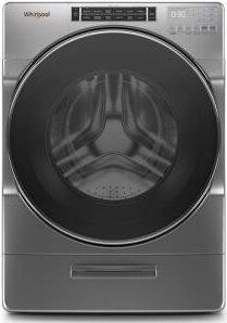 Whirlpool(R) 5.0 cu. ft. Front Load Washer with Load & Go(TM) XL Dispenser - Chrome Shadow